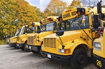 School bus fleet run on propane