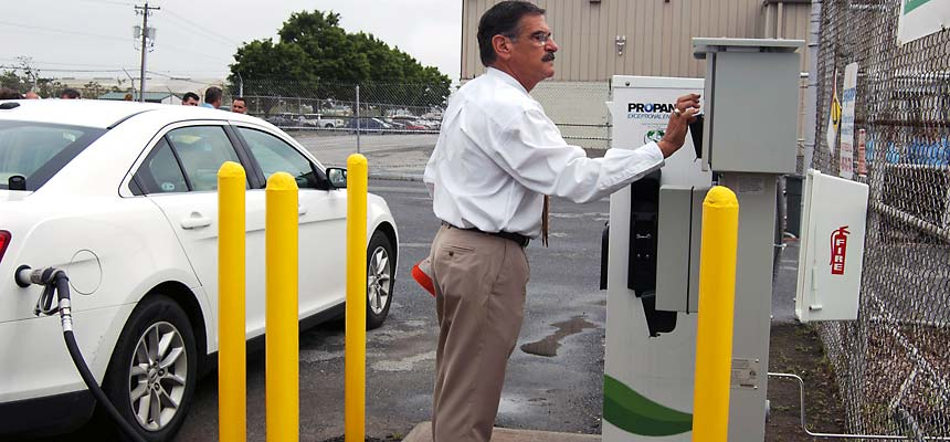 using a propane autogas filling station