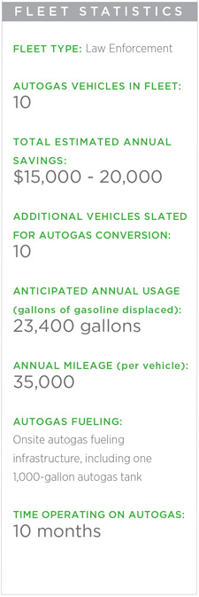 AutoGas Vehicle Police Fleet Statistics